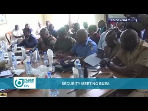 STV - THE 01:00 PM FLASH INFOS - (BUEA : SECURITY MEETING) - Monday 18th June 2018