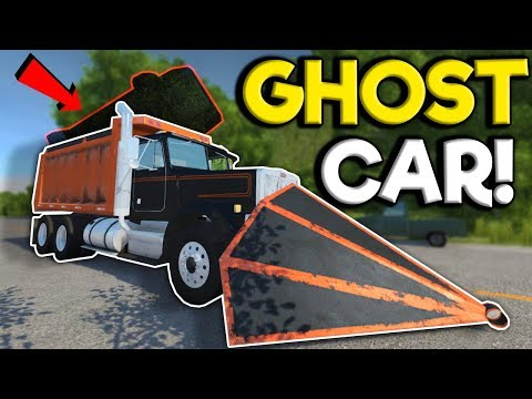 I Tried To Stop The Ghost Car With A Ram Plow! - BeamNG Drive Gameplay - Scary Map