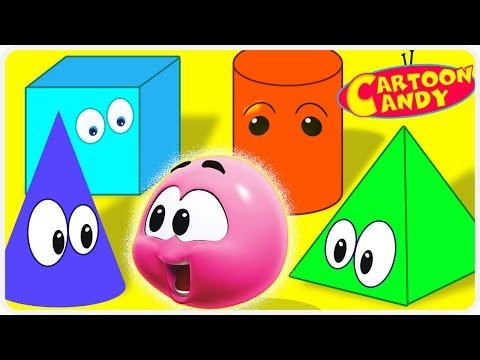 Learn Colors with Colorful Shapes - WonderBalls | Cartoons For Children  | Cartoon Candy