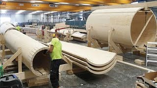 Incredible Modern Automatic Wood Processor Production Factory. Amazing Modern Woodworking Machines