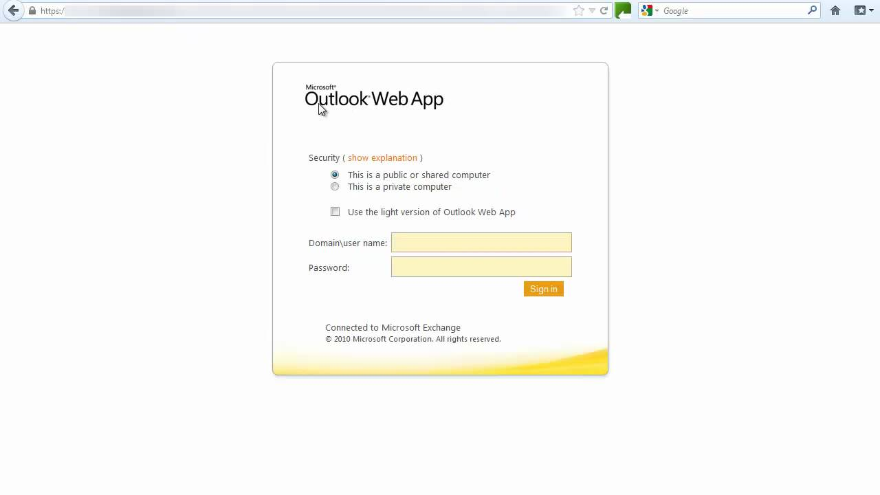 How to Access Outlook Web App - YouTube