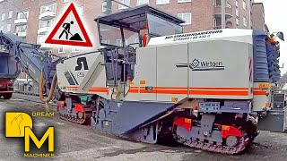 3x WIRTGEN MILLING MACHINE EXTREME ROAD CONSTRUCTION ++ COLD PLANER RIPPING OFF ASPHALT