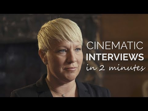 How to Shoot Cinematic Interviews in 2 Minutes | Job Shadow