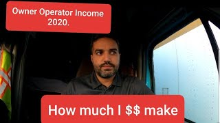 Truck Owner Operator income in 2020