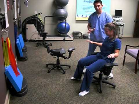 Wobble Chair Chiropractic Jenny Lind Rocking Lumbar Low Back Exercises Rehab Therapy