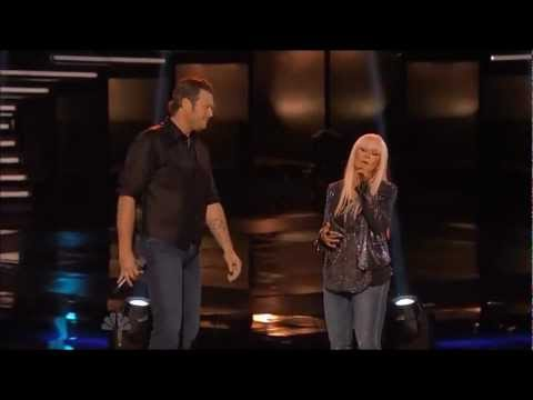Christina Aguilera ft Blake Shelton - Just A Fool Live On The Voice