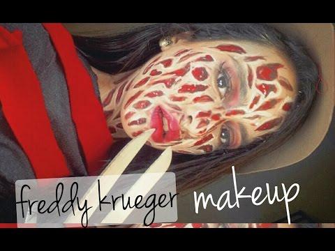 MAQUILLAJE DE FREDDY KRUEGER SIN LATEX♡+HALLOWEEN MAKEUP ART ...