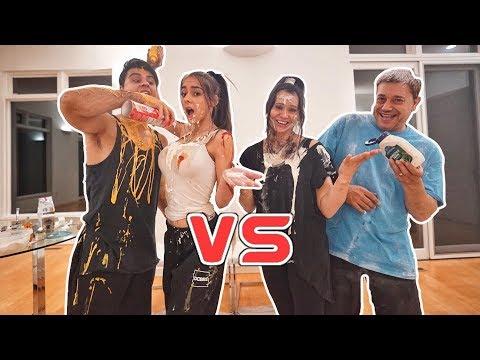 COUPLE vs COUPLE EAT IT or WEAR IT CHALLENGE! (so funny)
