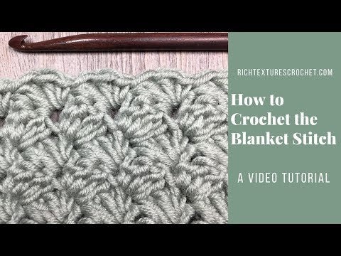 Blanket Stitch - How to Crochet