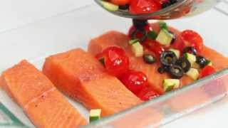 Healthy Recipe: Mediterranean Salmon With Tomatoes, Olives, And Zucchini | Health