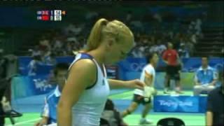 Beijing Olympics Emms/Robertson vs Gao/Zheng Part 5
