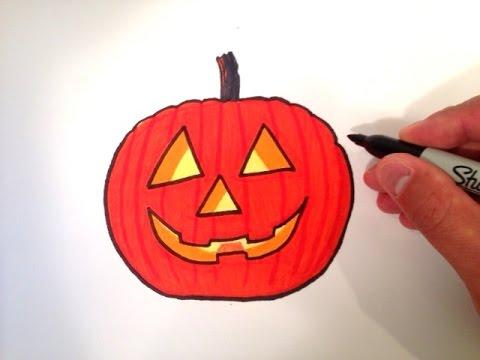 How To Draw A Jack O Lantern Pumpkin Youtube