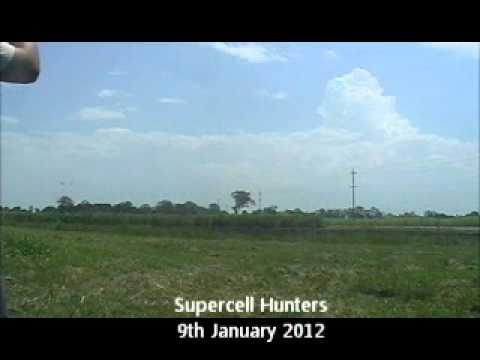 Supercell formation timelapse Coraki Jan 9th 2012