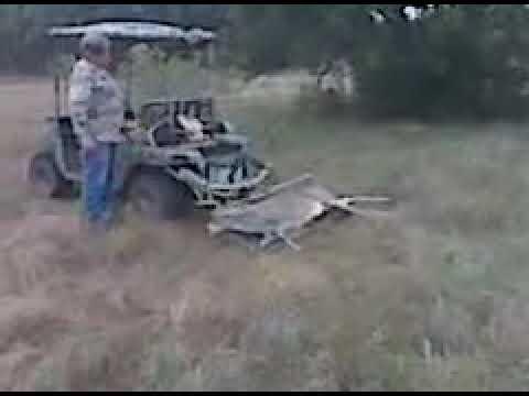 Golf Cart Hauling Deer Stand on bus deer stand, wheelchair deer stand, golf cart deer lift,