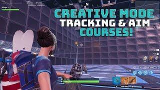 Rastreamento de modo criativo e curso de treinamento de AIM! COM O CÓDIGO! -Battle Royale do Fortnite