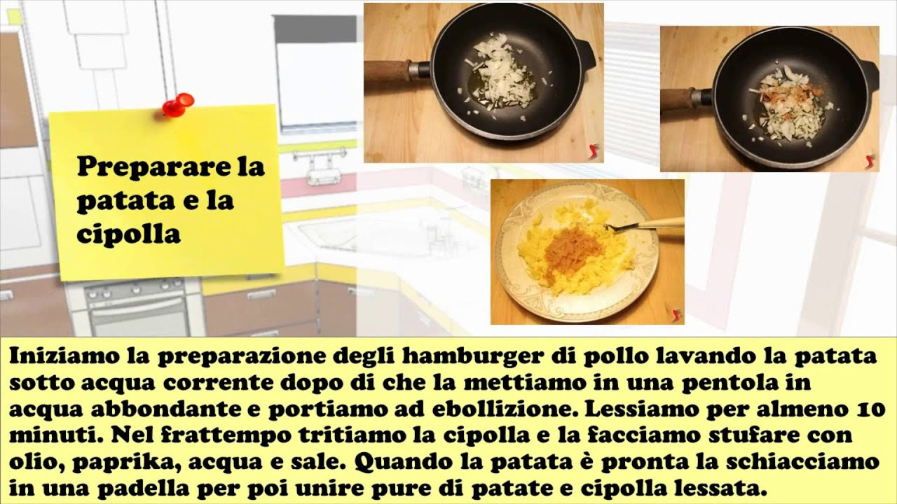 Hamburger di pollo youtube for Cucinare yakisoba