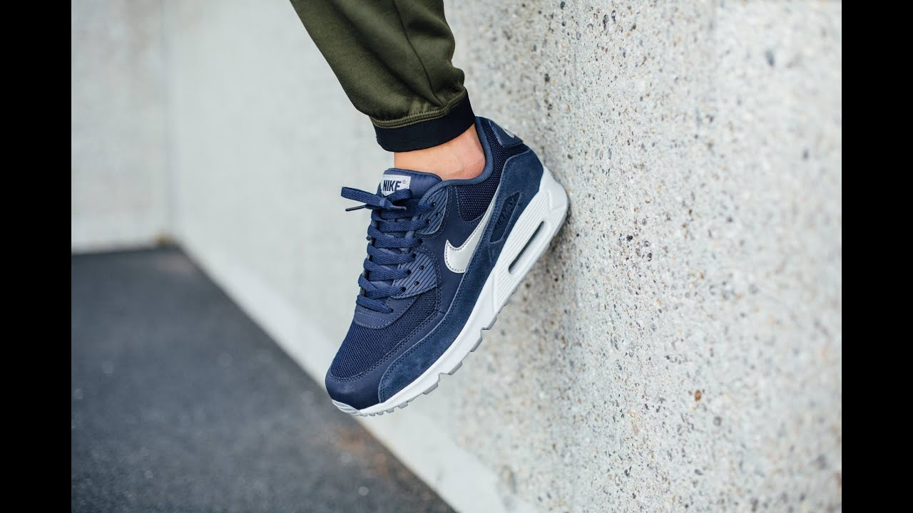 d58cdf39fc nike air max 90 navy blue grey white cheap > OFF54% The Largest ...