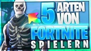 5 ARTEN VON FORTNITE SPIELERN! (Youtuber Edition) 😍🔥 | BaumBlau
