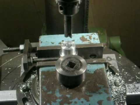 square hole drilling on a drill press - YouTube