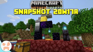 Smithing Table Upgrade, Wall Changes, + Menu Upgrade! | Minecraft 1.16 Nether Update Snapshot 20w17a