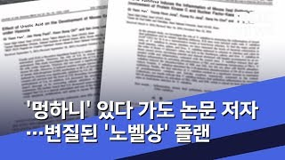 [고교생 논문] '멍하니' 있다 가도 논문 저자…변질된 '노벨상' 플랜 (2019.10.17/뉴스데스크/MBC)