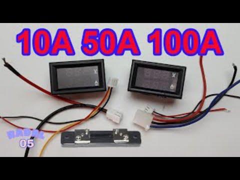 Cara Pasang Volt Ampere Digital 10A 50A 100A R Shunt Ide Kreatif DIY