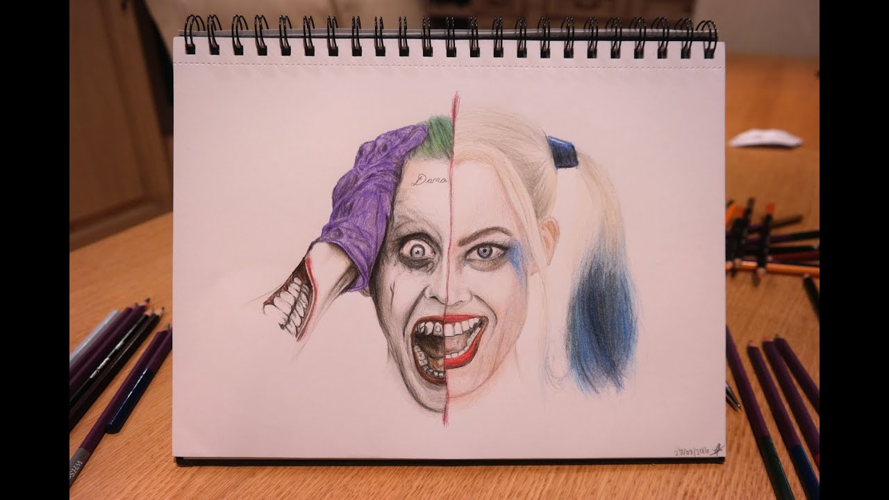 🎨 SPEED DRAWING: The Joker and Harley Quinn 🃏 (Jared Leto ...