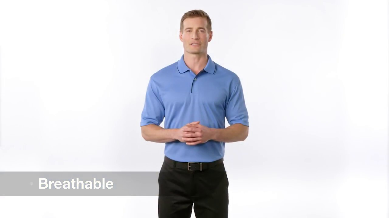 76b861c8 Sport-Tek® Dri-Mesh® Polo with Tipped Collar and Piping. K467 - YouTube