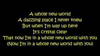 Zayn Zhavia Ward A Whole New World Aladdin Lyrics On Screen.mp3
