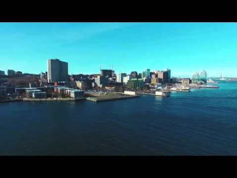 WATERFRONT halifax Nova Scotia - Aerial Drone Footage