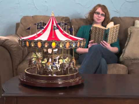 Gold Label Animated Anniversary Carousel Music Box