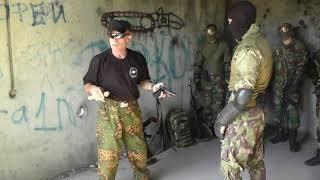 Спецназ. Нож против пистолета в ограниченном пространстве.