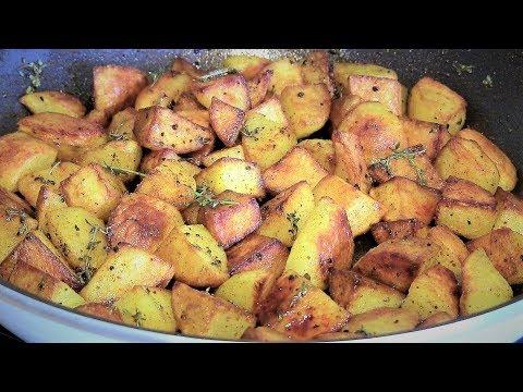 Bratkartoffeln-einfaches Rezept für knusprige Bratkartoffeln aus rohen Kartoffeln