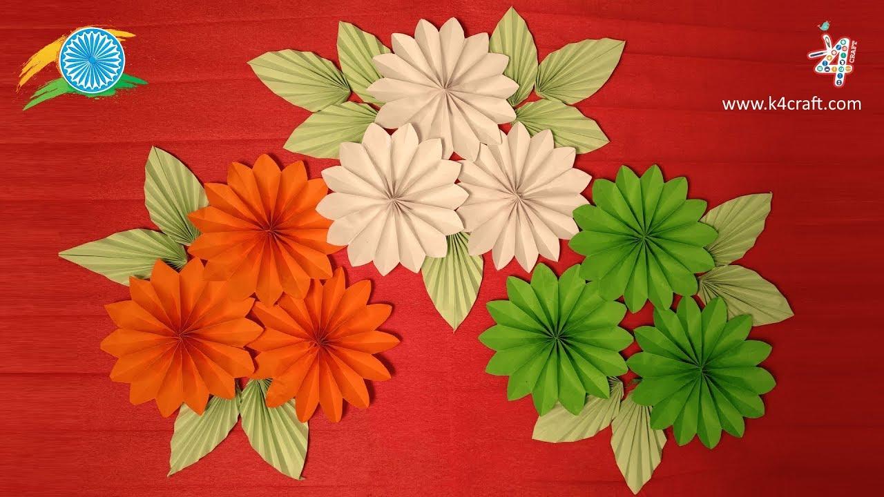 Diy Paper Crafts Tricolor Republic Day Craft Decoration Ideas
