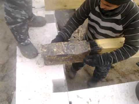 видео: Дом из Газобетона день 13 Обработка и кладка ЛАГ первого этажа.