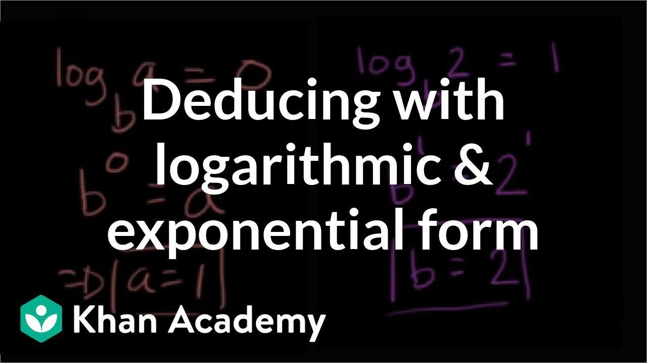 Relationship between exponentials & logarithms: tables