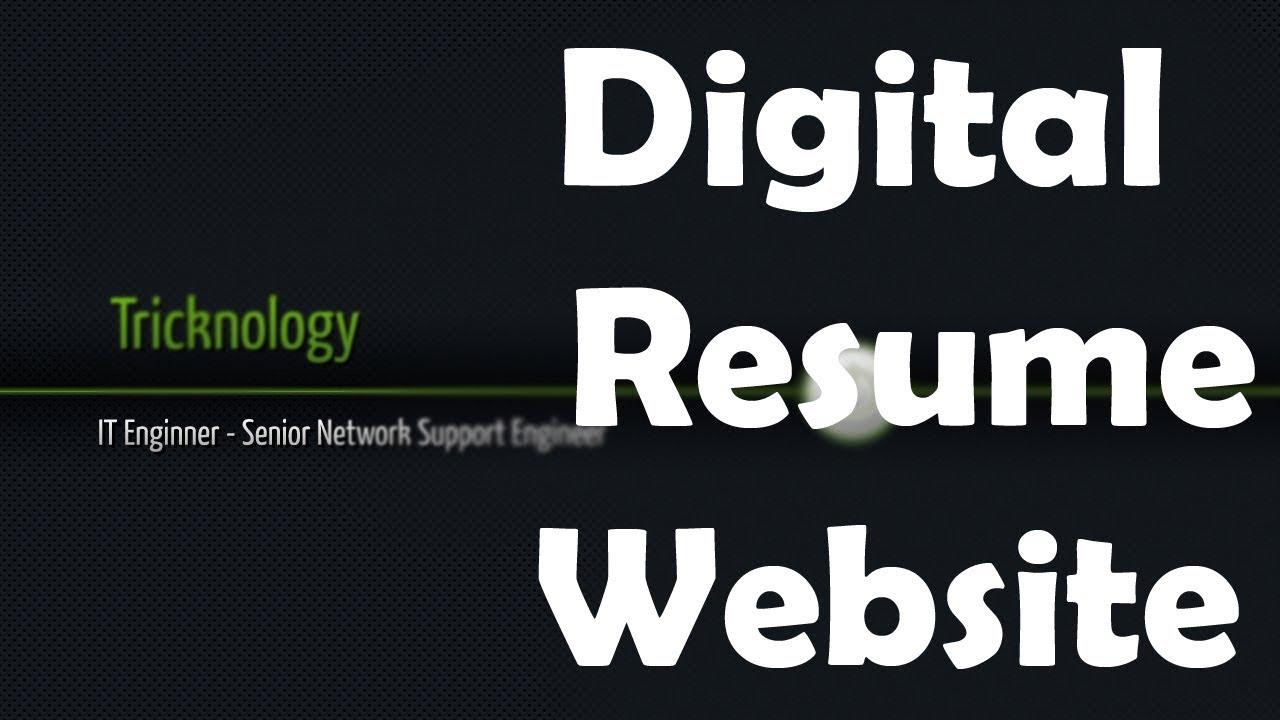 How To Make Digital HTML Resume / CV Using Free Hosting and Free ...