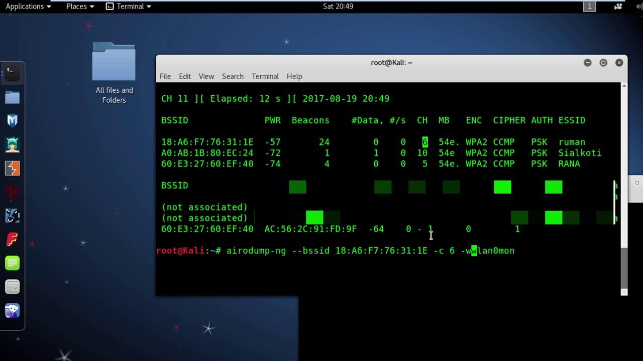 Wifi WPA2 Capture the 4 way handshake file