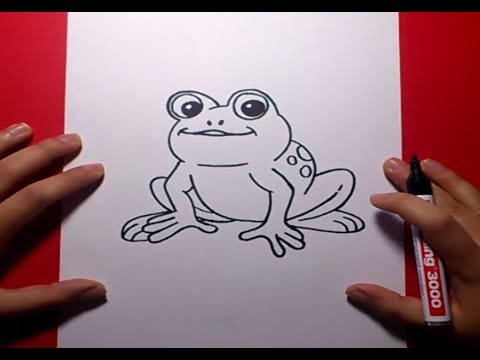 Como dibujar una rana paso a paso 3 | How to draw a frog 3 - YouTube