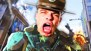 DRILL SERGEANT PLAYS BLACK OPS 3! (Black Ops 3 VOICE Trolling)
