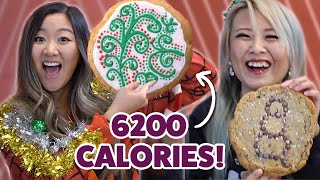 I Challenged A Competitive Eater To Eat 15 Pounds Of Milk & Cookies • Giant Food Time Holiday Ep. 1