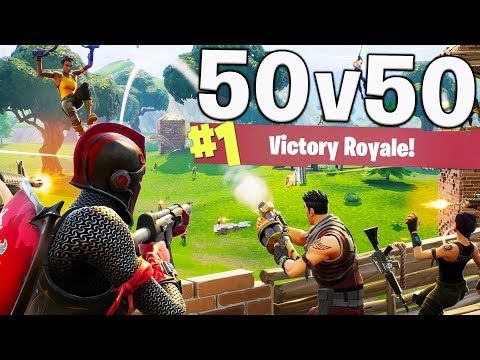 HOW TO WIN 50VS50 WITHOUT DOING ANYTHING! (Fortnite Battle Royale)