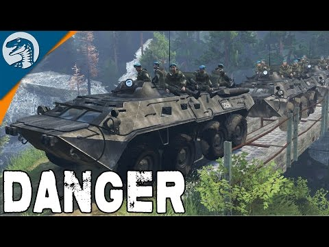 RUSSIAN TROOPS REACH FRONTLINE | BTR-80 | Spintires Multiplayer Gameplay
