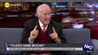 "Víctor Andrés García Belaúnde: ""Toledo sabe mucho"""