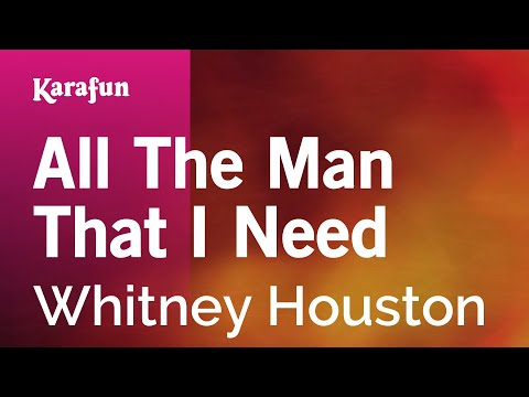 Karaoke All The Man That I Need - Whitney Houston *