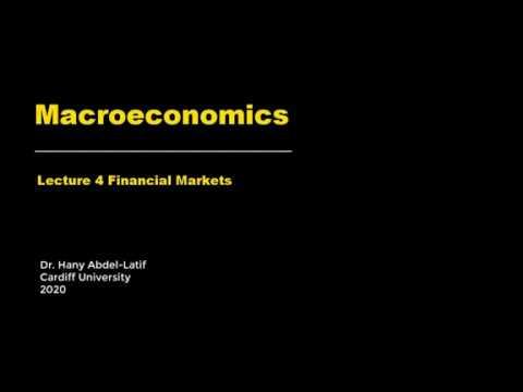 Macroeconomics Lecture 4 Financial Markets