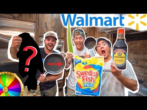 Walmart ROULETTE INGREDIENT Cooking Challenge!! (Catch Clean Cook)