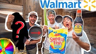 Walmart ROULETTE INGREDIENT Cooking Challenge!! (Catch Clean Cook)