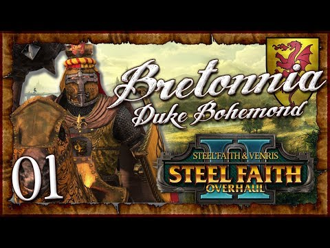 BOHEMOND BEASTSLAYER!   WARHAMMER II (Steel Faith Overhaul 2) Mortal Empires (Bretonnia) #1