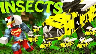 Minecraft | INSECT MOBS MOD Showcase! (EREBUS DIMENSION, BUGS LIFE, GIANT BUGS)